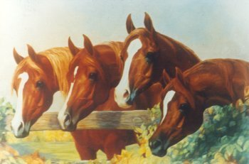 Gladys Brown Edwards painting of the 4 Golden Beauties